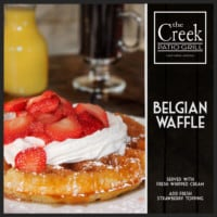 Belgian Waffle - The Creek Patio Grill Sunday Brunch - Cave Creek, Tatum Ranch, Phoenix