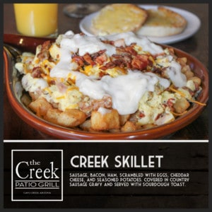 The Creek Skillet - The Creek Patio Grill Sunday Brunch - Cave Creek, Tatum Ranch, Phoenix