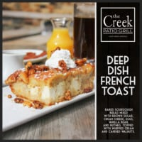 Deep Dish French Toast - The Creek Patio Grill Sunday Brunch - Cave Creek, Tatum Ranch, Phoenix