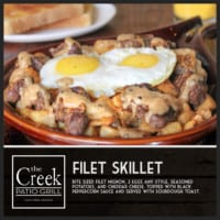 The Filet Skillet - The Creek Patio Grill Sunday Brunch - Cave Creek, Tatum Ranch, Phoenix