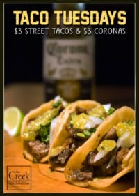 Taco Tuesday 1 at The Creek Patio Grill Cave Creek Arizona Tatum Ranch