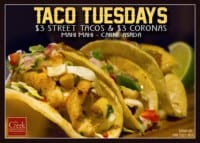 Taco Tuesday 2 at The Creek Patio Grill Cave Creek Arizona Tatum Ranch