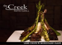 LAMB CHOP ENTREE at The Creek Patio Grill