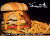THE CREEK BURGER at The Creek Patio Grill
